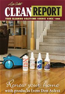 Picture of home cleaning duties from Don Aslett's Cleaning Center catalog