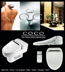 Picture of bidet toilets from Coco Bidets catalog