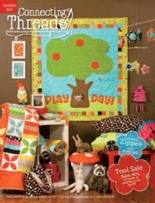 Picture of quilting catalog from Connecting Threads catalog