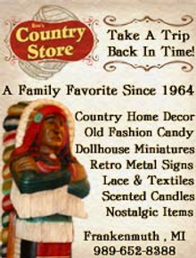 Picture of nostalgic products from Rau's Country Store catalog