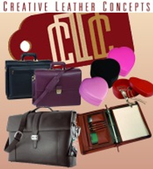 Picture of leather briefcases from Creative Leather Concepts catalog