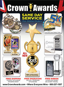 Picture of corporate awards from  Crown Awards and Trophies catalog