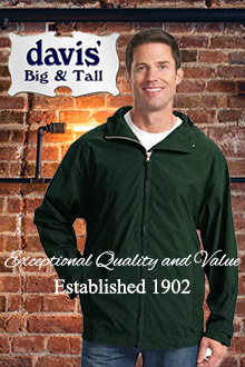 Picture of big and tall mens clothing from Davis' Big and Tall catalog