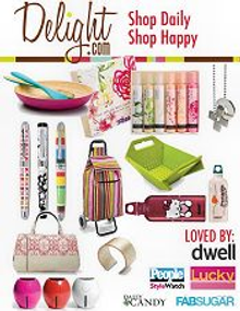 Picture of holiday gift shopping from Delight.com catalog