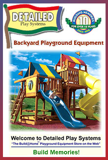 Picture of residential playground equipment from Detailed Play Systems catalog