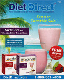 Picture of low carb diet foods from Diet Direct catalog