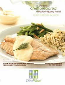 Picture of order meals online from DineWise catalog