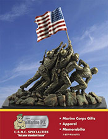Picture of USMC accessories from eMarine PX catalog