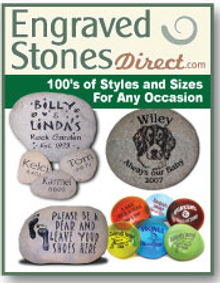Picture of engraved stones from Engraved Stones Direct catalog