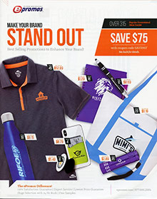 Picture of promo items from ePromos Business Products catalog