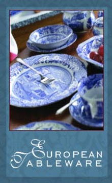 Picture of china and dinnerware from European Tableware catalog