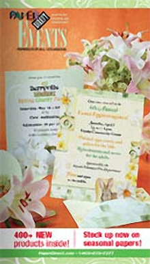 Picture of blank wedding invitations from Events by PaperDirect� catalog