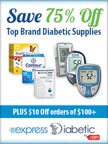 Picture of mail order diabetic supplies from expressDiabetic catalog