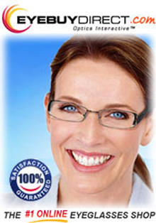Picture of buying glasses online from EyeBuyDirect.com catalog