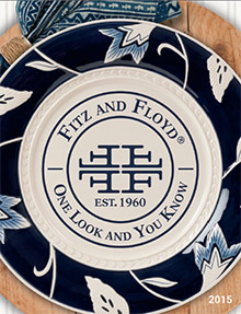 Picture of collectible plates from Fitz and Floyd  catalog