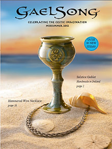 Picture of gifts from Ireland from GaelSong catalog
