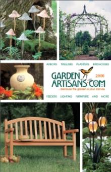 Picture of metal outdoor sculpture from Garden Artisans catalog