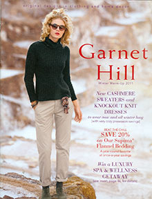 Picture of Garnet Hill catalog from Garnet Hill catalog