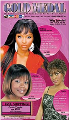 Picture of hair care for black women from Gold Medal Hair  catalog