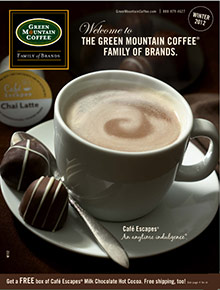 Picture of keurig coffee maker from Green Mountain Coffee® catalog