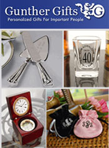 Picture of personalized bridal party gifts from Gunther Gifts catalog