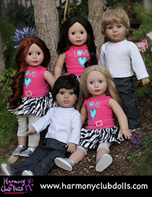 Picture of harmony club dolls from Harmony Club Dolls catalog