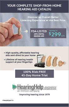 Picture of hearing help express catalog from Hearing Help Express