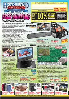 Picture of online bargain shopping from Heartland America