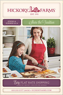 Picture of hickory farms catalog from Hickory Farms catalog