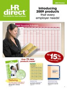 Picture of safety posters from  HRdirect  catalog
