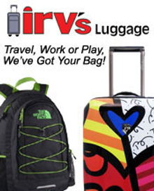 Picture of lightweight travel luggage  from Irv's Luggage catalog