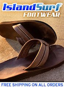 Picture of flip flops for the beach from Island Surf Footwear catalog