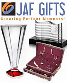 Picture of gifts and collectibles from Jaf Gifts catalog