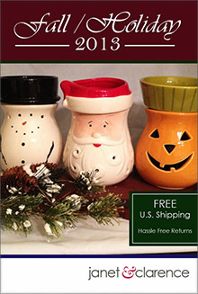 Picture of electric candle warmer from Janet & Clarence catalog