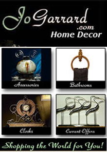 Picture of eclectic home decor from Jo Garrard Home Decor catalog