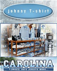 Picture of north carolina jerseys from Johnny T-Shirt catalog