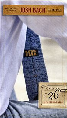 Picture of men's ties from Josh Bach Neckties catalog