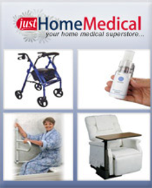 Picture of medical supplies for home from JustHomeMedical.com catalog