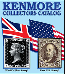 Picture of stamp collecting from Kenmore Stamp catalog