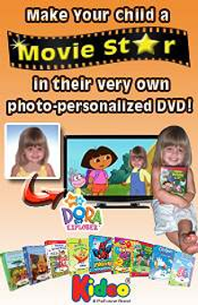 Picture of personalized kids video from Kideo - Personalized DVDs catalog