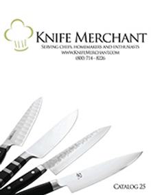 Picture of best kitchen knives from Knife Merchant catalog