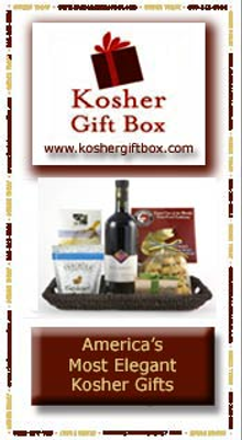 Picture of kosher food gift baskets from Kosher Gift Box catalog