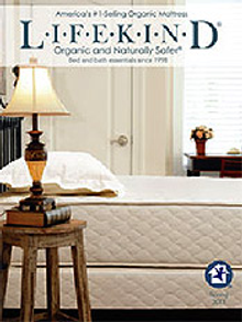 Picture of best organic mattresses from Lifekind� catalog