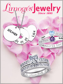 Picture of mothers rings from Limoges Jewelry catalog