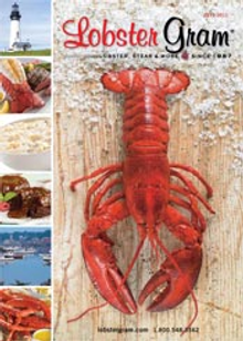 Picture of order live lobsters from Lobster Gram catalog