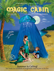 Picture of magic cabin from Magic Cabin catalog