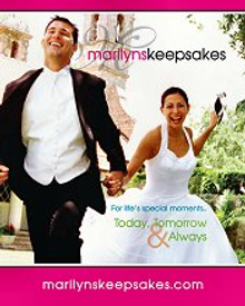Picture of wedding reception decorations from Marilyn's Keepsakes catalog