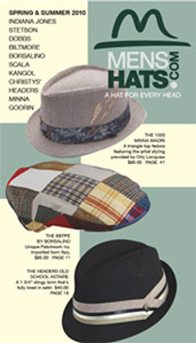 Picture of mens hats from MensHats.com catalog