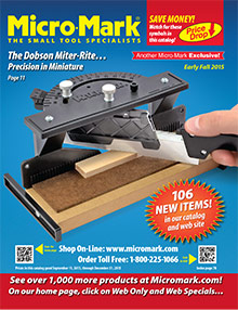 Picture of micro mark tools catalog from Micro-Mark Tools catalog