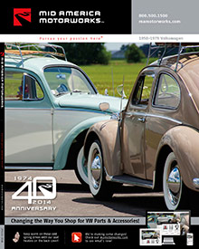 Picture of classic VW parts from Air-Cooled VW Parts - Mid America Motorworks catalog